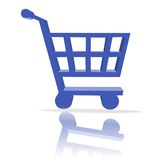Shopping cart button Stock Image