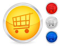 Shopping cart button 2. Shopping cart internet button set. Vector illustration Royalty Free Stock Photography