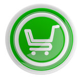 Shopping cart button Stock Photo