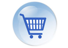 Shopping cart button. Web icon - computer generated illustration Stock Photos