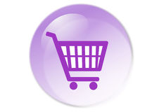Shopping cart button. Web icon - computer generated illustration Stock Images