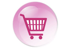 Shopping cart button. Web icon - computer generated illustration Royalty Free Stock Photo