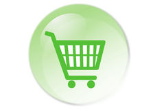 Shopping cart button. Web icon - computer generated illustration Royalty Free Stock Photos