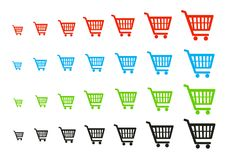 Shopping cart button. Web icon - computer generated illustration Stock Photo