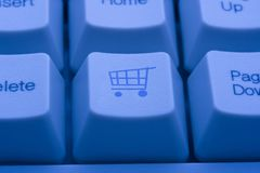 Shopping cart button Royalty Free Stock Images