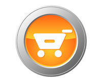 Shopping cart button. Detailed and accurate illustration of shopping cart button Royalty Free Stock Photos