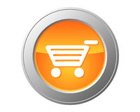 Shopping cart button. Detailed and accurate illustration of shopping cart button Royalty Free Stock Image