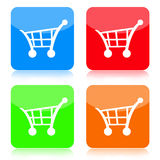 Shopping Cart Button Set. Shopping cart buttons set  on white background Stock Images