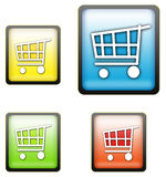 Shopping cart buttons Stock Photo