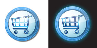 Shopping cart buttons Stock Photos