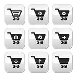 Shopping cart  buttons set Stock Photo