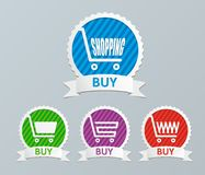 Shopping cart - buy icons Stock Photos
