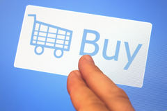 Shopping cart and Buy sign Royalty Free Stock Photos
