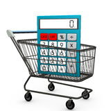 Shopping Cart Calculator Stock Photos