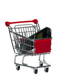 Shopping Cart with a cell phone Stock Image