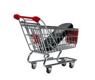Shopping Cart with a cell phone Stock Photos