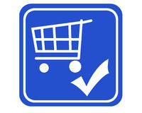 Shopping cart checked Royalty Free Stock Photo