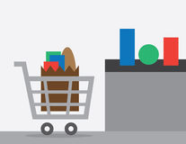 Shopping Cart Checkout Royalty Free Stock Photo