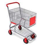 Shopping cart with  clipping path Royalty Free Stock Images