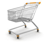 Shopping Cart (clipping path included) Royalty Free Stock Photo