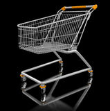 Shopping Cart (clipping path included) Stock Photography