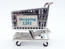Shopping Cart Closeup Stock Photo