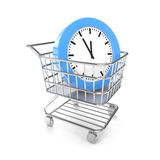 Shopping cart with cloud Stock Images