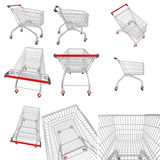 Shopping cart collection Royalty Free Stock Image