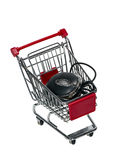 Shopping cart with a computer mouse Royalty Free Stock Photography