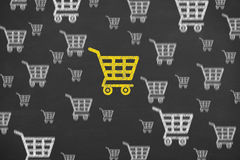 Shopping Cart Concept Choose on Blackboard. On working business concept Stock Image