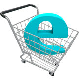 Shopping Cart Containing Letter E Royalty Free Stock Images