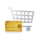 Shopping cart and credit card illustration design Stock Photography