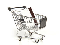 Shopping cart with credit card Royalty Free Stock Images