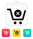 Shopping cart delete icon. Vector illustration royalty free illustration