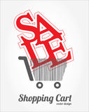 Shopping cart design Royalty Free Stock Photography