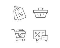 Shopping cart, Discount Coupons and Sale icons. Royalty Free Stock Photos