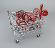 Shopping Cart, discounts, sales, supermarket promotions Royalty Free Stock Photos