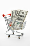 Shopping Cart and dollar Stock Images