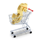 Shopping cart Dollar Royalty Free Stock Photos