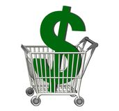 Shopping Cart Dollar Royalty Free Stock Photography