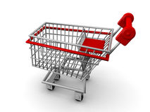 Shopping cart ecommerce concept Stock Image