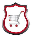 Shopping cart emblem Royalty Free Stock Photos