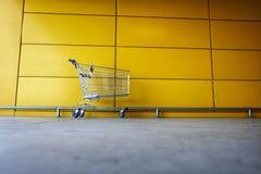 A shopping cart. An empty shopping cart Royalty Free Stock Photos