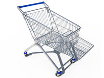 Shopping cart empty 3d cg Royalty Free Stock Photo