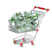 Shopping cart and euro Stock Photo