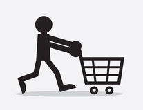 Shopping Cart Figure Stock Photo