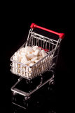 Shopping cart filled with medicine Royalty Free Stock Photography