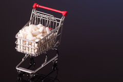 Shopping cart filled with medicine Royalty Free Stock Images