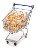 Shopping cart filled with vitamin tablets Royalty Free Stock Images