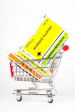 Shopping cart with first aid kit Royalty Free Stock Images